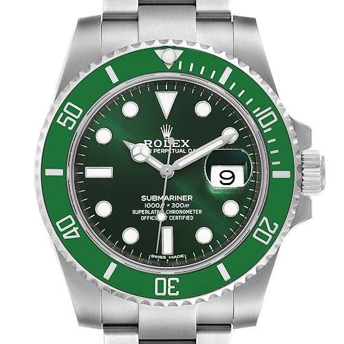 Photo of Rolex Submariner Hulk Green Dial Bezel Steel Mens Watch 116610LV