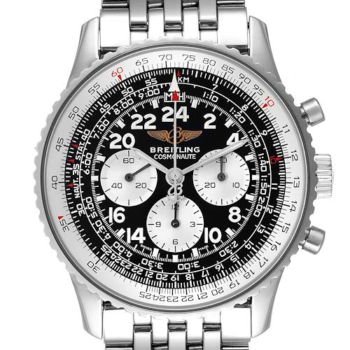 Photo of Breitling Navitimer Cosmonaute Black Dial Chronograph Mens Watch A12322