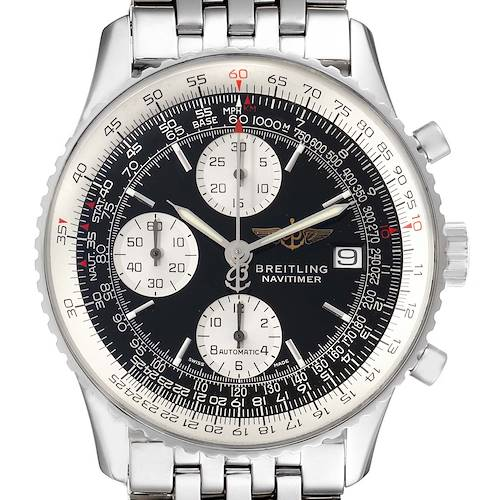 Photo of Breitling Navitimer II Black Dial Chronograph Steel Mens Watch A13322