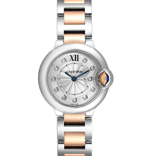 Photo of Cartier Ballon Bleu Steel Rose Gold Diamond Ladies Watch WE902030