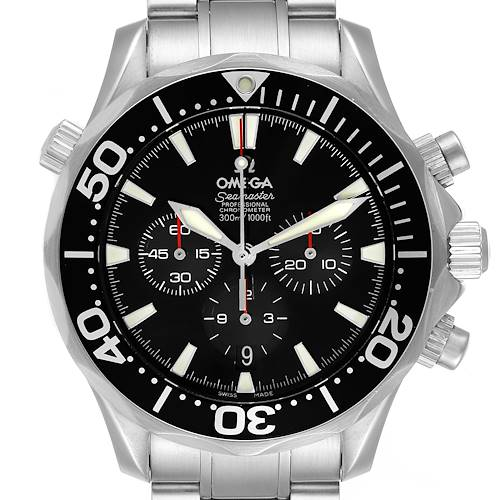 Photo of Omega Seamaster Chronograph Black Dial Steel Mens Watch 2594.52.00
