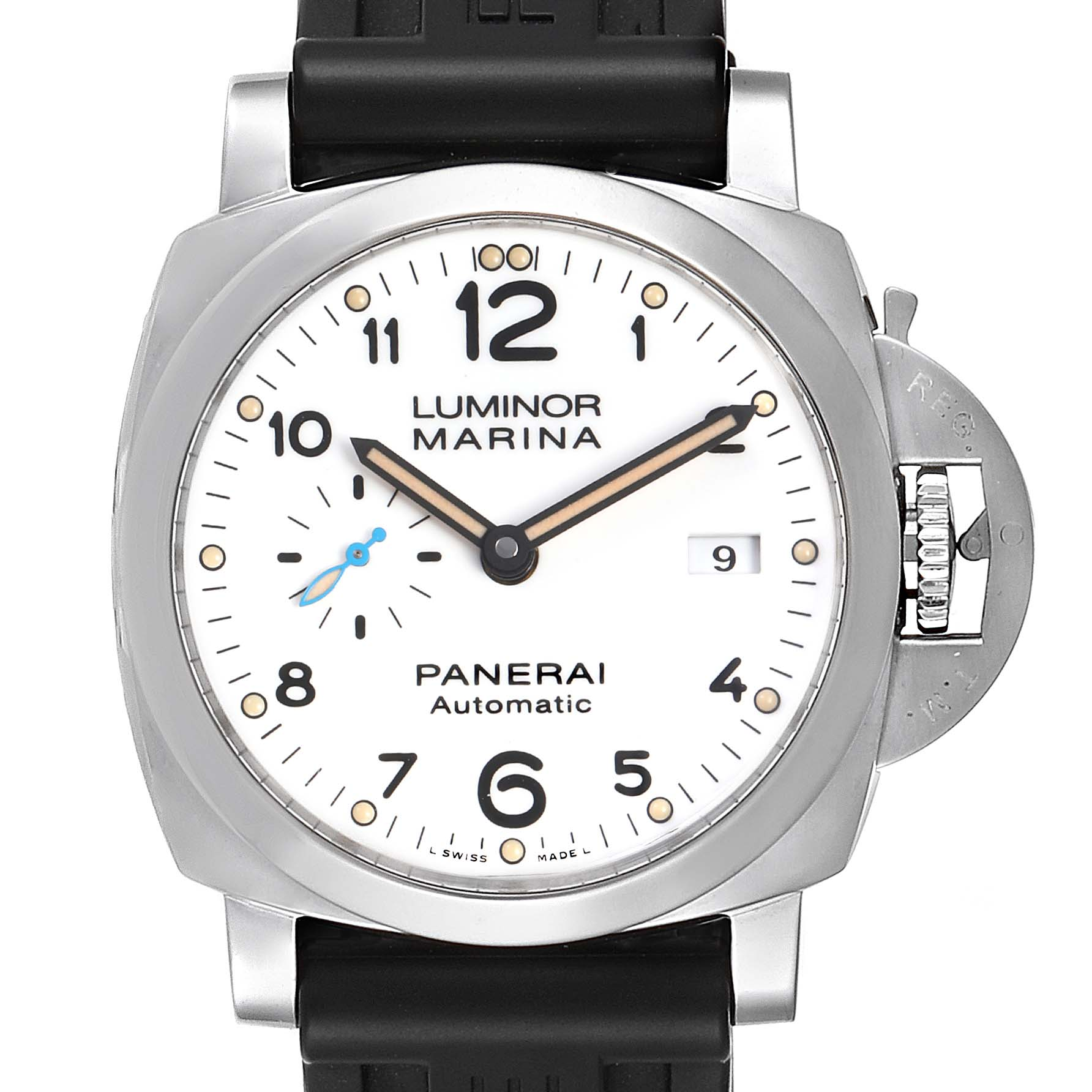 Panerai Luminor Marina 1950 White Dial Automatic Watch PAM01499 Box Papers