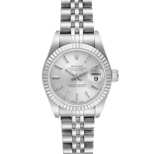 Photo of Rolex Datejust 26 Steel White Gold Silver Dial Ladies Watch 79174 Unworn