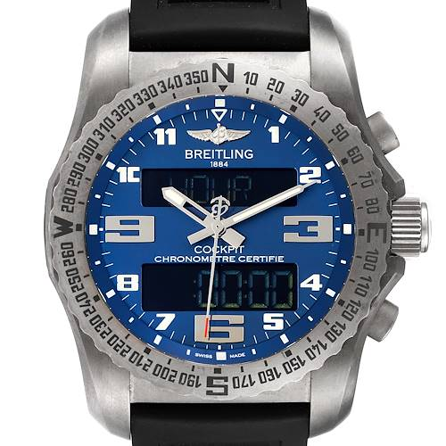 Photo of Breitling Cockpit B50 Blue Dial Titanium Mens Watch EB5010 Box Papers