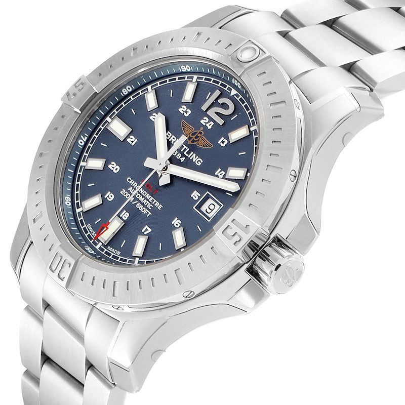 Breitling Colt Blue Dial Automatic Steel Mens Watch A17388 Unworrn SwissWatchExpo