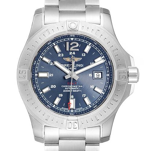 Photo of Breitling Colt Blue Dial Automatic Steel Mens Watch A17388 Unworrn