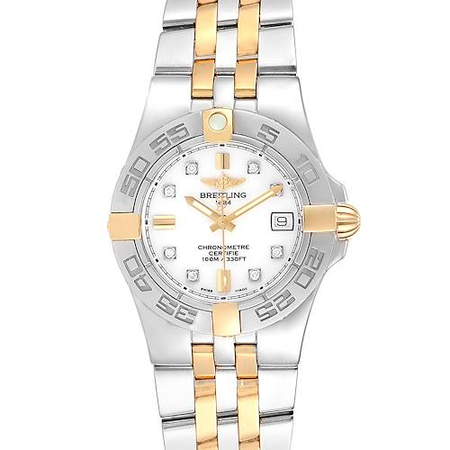 Photo of NOT FOR SALE Breitling Galactic 30 Ladies Steel 18K Yellow Gold Diamond Watch B71340 PARTIAL PAYMENT