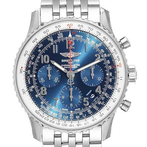 Photo of Breitling Navitimer 01 Blue Dial Limited Edition Watch AB0121 Unworn
