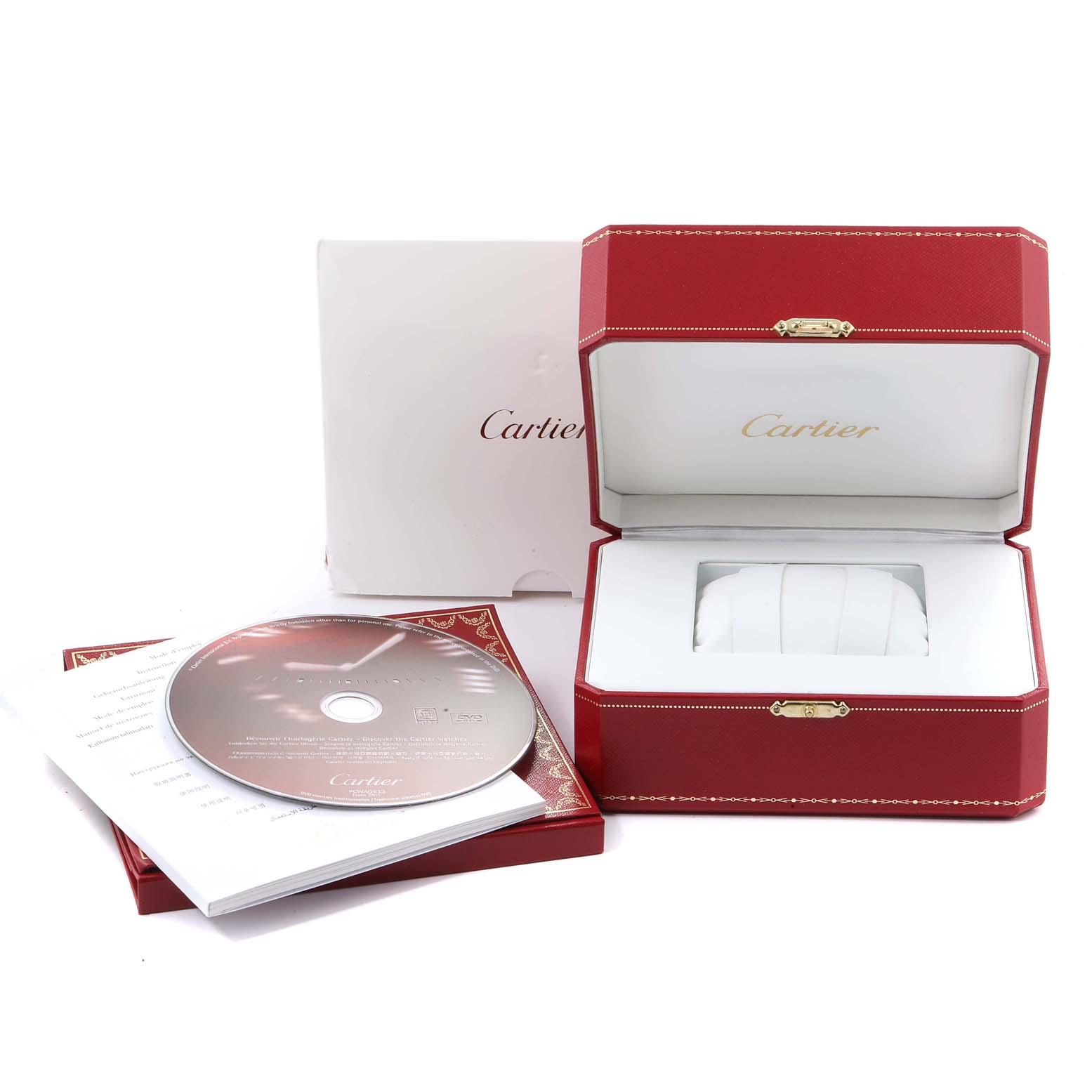 Cartier Pasha 38mm Chronograph Steel Yellow Gold Mens Watch W3014051 SwissWatchExpo