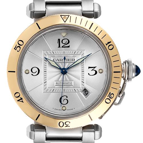 Photo of Cartier Pasha 38mm Steel Yellow Gold Silver Dial Mens Watch 2378