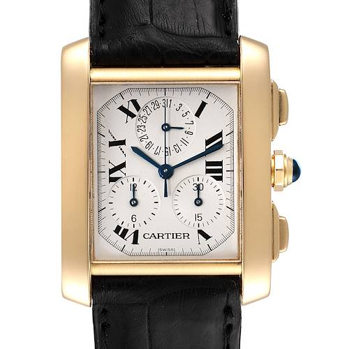 Photo of Cartier Tank Francaise Chronoflex 18K Yellow Gold Mens Watch W5000556