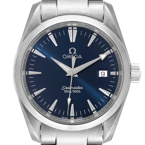 Photo of Omega Seamaster Aqua Terra Blue Dial Steel Mens Watch 2518.80.00
