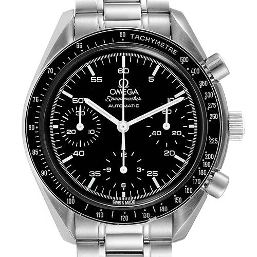 Photo of Omega Speedmaster Reduced Hesalite Crystal Mens Watch 3510.50.00 Card