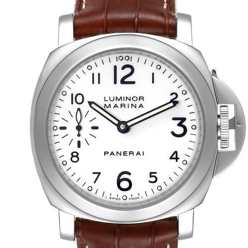 Photo of Panerai Luminor Marina 44mm White Dial Watch PAM00113 Box Papers
