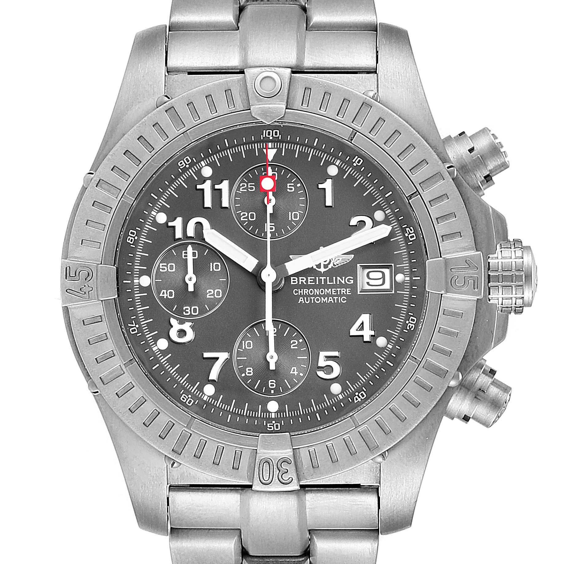 Breitling Aeromarine Avenger Chronograph Titanium Mens Watch E13360