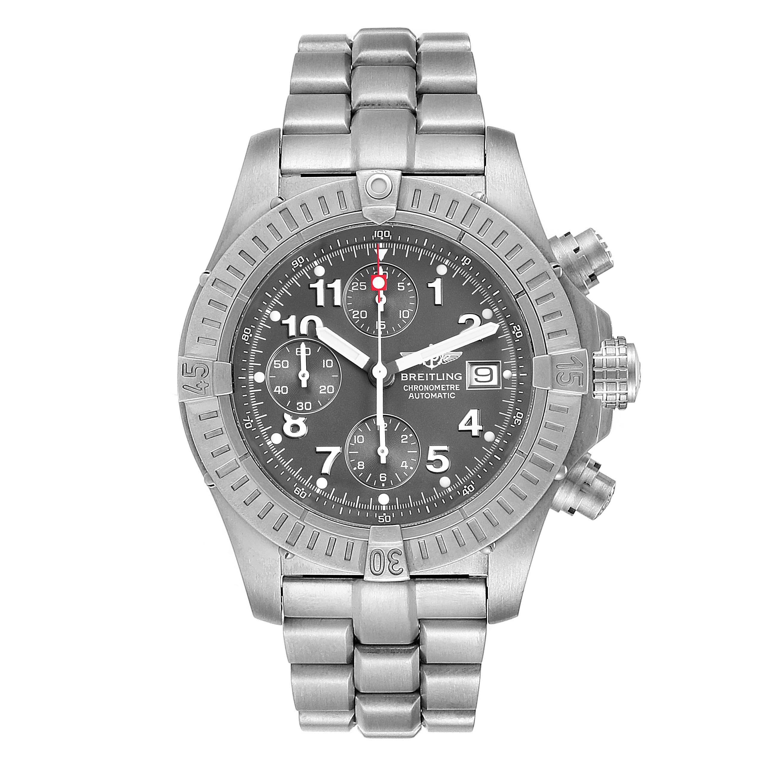 Breitling Aeromarine Avenger Chronograph Titanium Mens Watch E13360 SwissWatchExpo