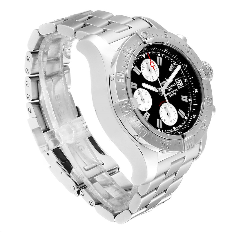 Breitling Aeromarine Avenger Skyland Black Dial Mens Watch A13380 SwissWatchExpo