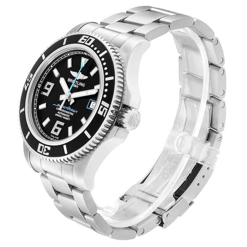 Breitling Aeromarine Superocean 44 Blue Hand Mens Watch A17391 Box Papers SwissWatchExpo