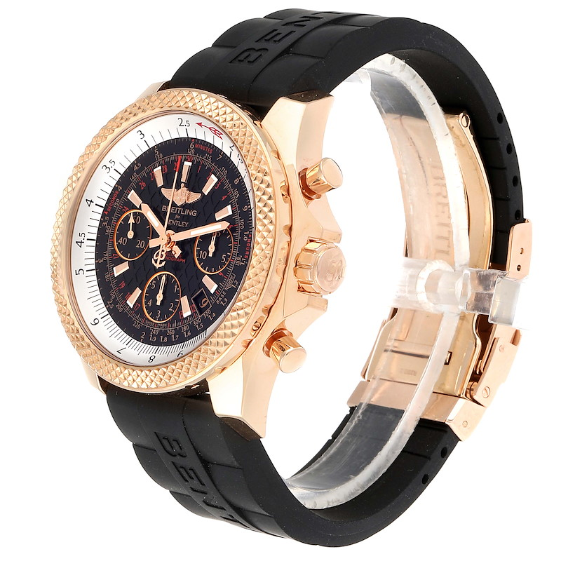 Breitling Bentley B06 Rose Gold Black Dial Mens Watch RB0612 Box Papers SwissWatchExpo