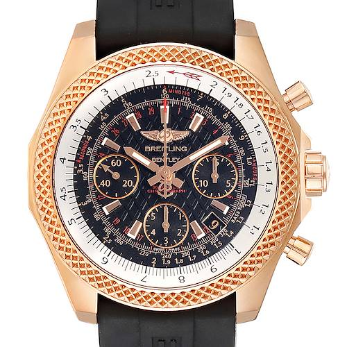Photo of Breitling Bentley B06 Rose Gold Black Dial Mens Watch RB0612 Box Papers