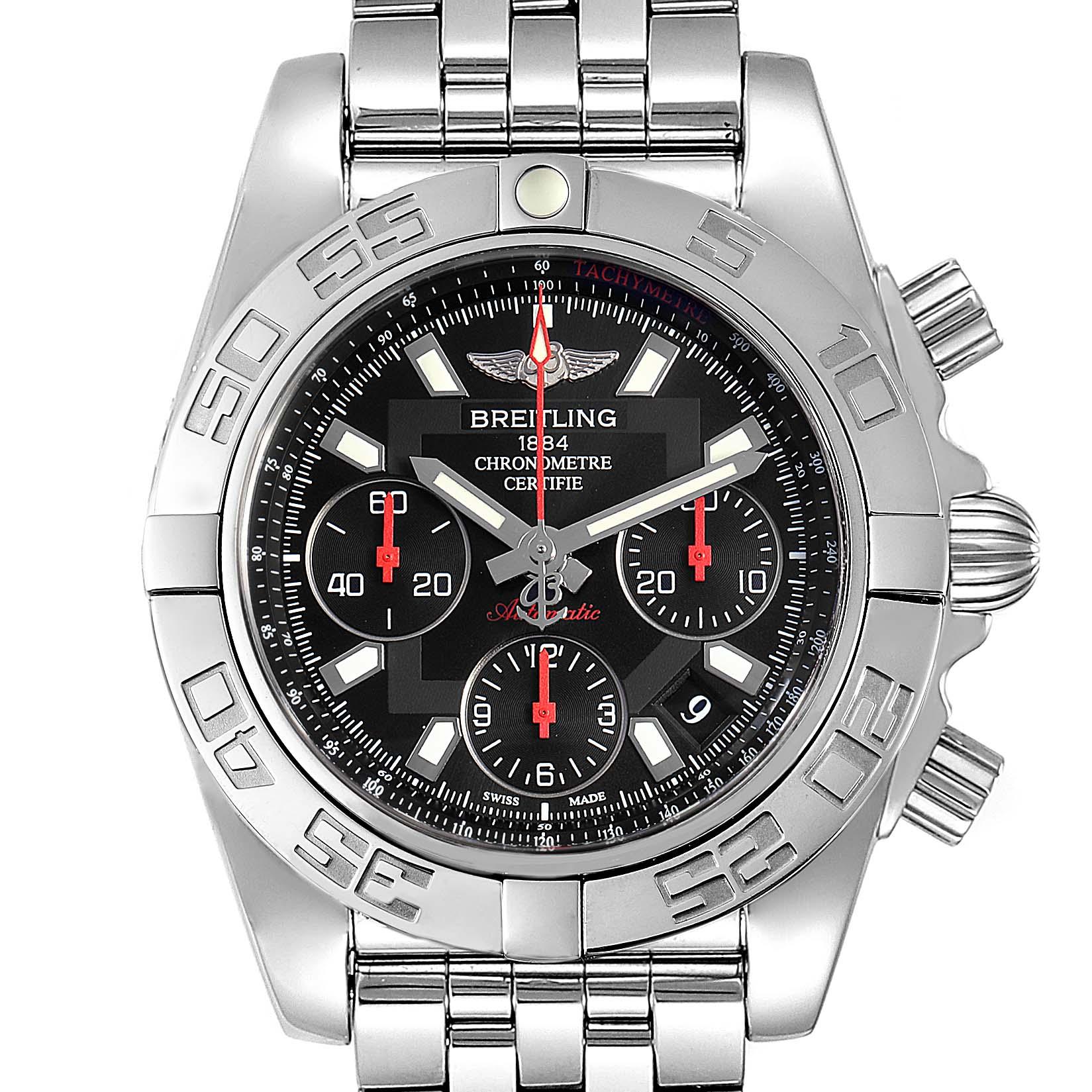 Breitling Chronomat Evolution 41mm Steel Mens Watch AB0140 Box Card