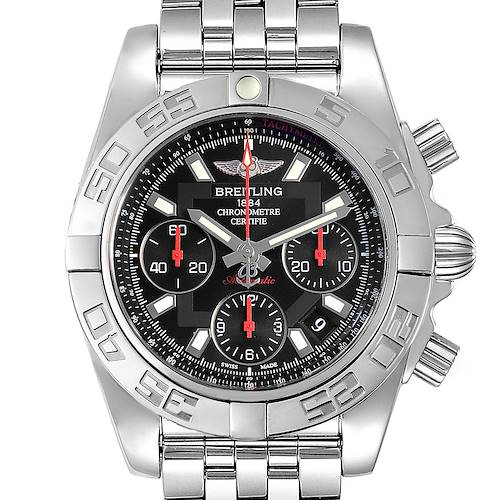 Photo of Breitling Chronomat Evolution 41mm Steel Mens Watch AB0140 Box Card
