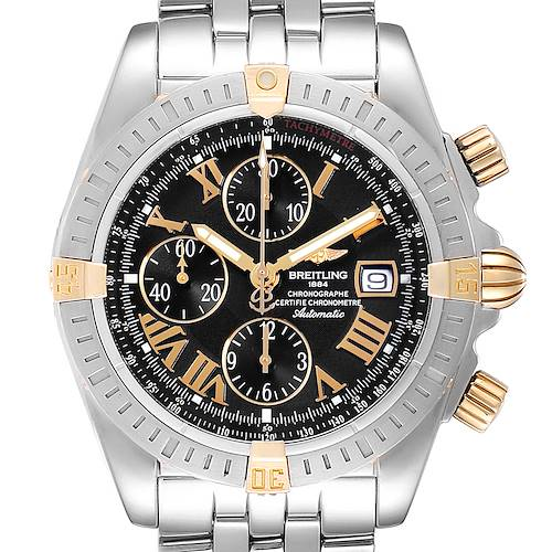 Photo of Breitling Chronomat Steel Yellow Gold Mens Watch B13356 Box Papers