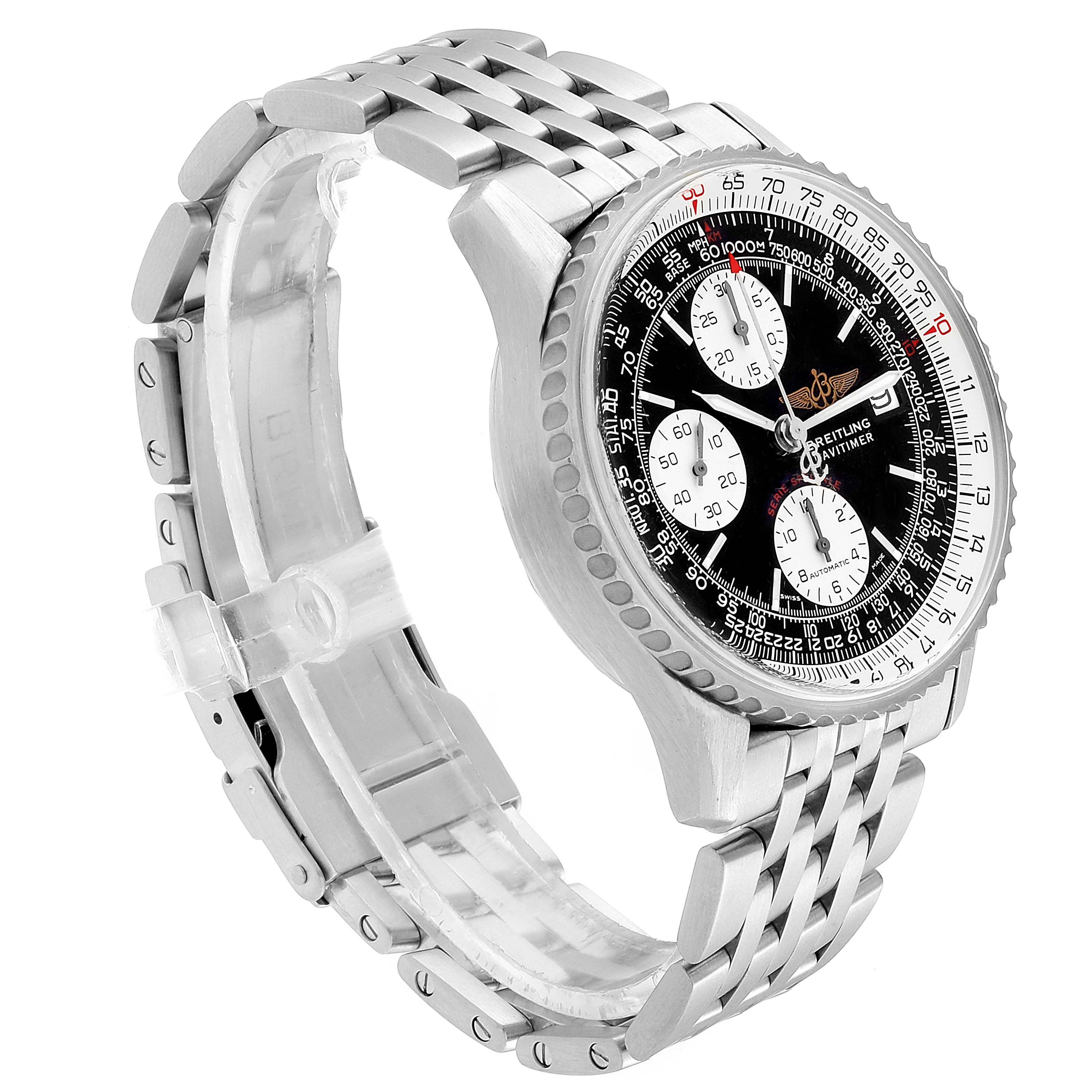Breitling Navitimer Fighter Chronograph Steel Watch A13330 Box Papers SwissWatchExpo