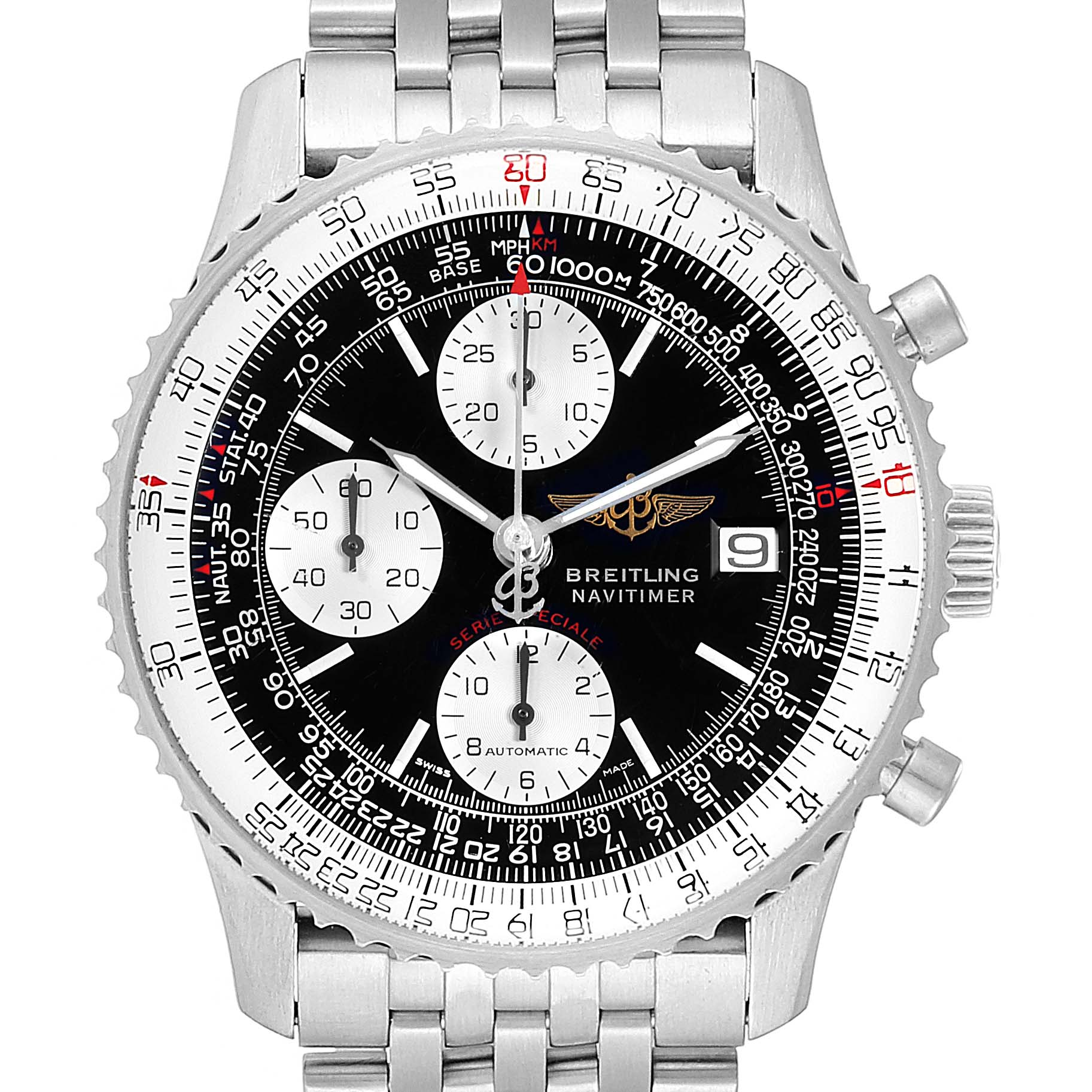 Breitling Navitimer Fighter Chronograph Steel Watch A13330 Box Papers