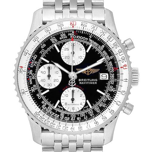 Photo of Breitling Navitimer Fighter Chronograph Steel Watch A13330 Box Papers