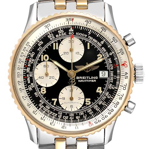 Photo of Breitling Navitimer Steel Yellow Gold Chronograph Mens Watch B13019