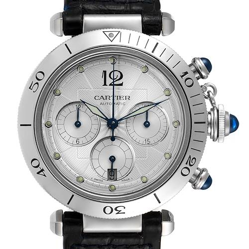 Photo of Cartier Pasha Seatimer Chronograph 38mm Steel Mens Watch W3103055