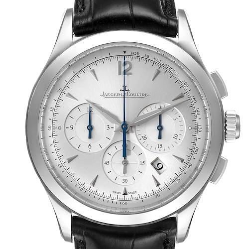Photo of Jaeger LeCoultre Master Chrongraph Silver Dial Steel Mens Watch 174.8.C1