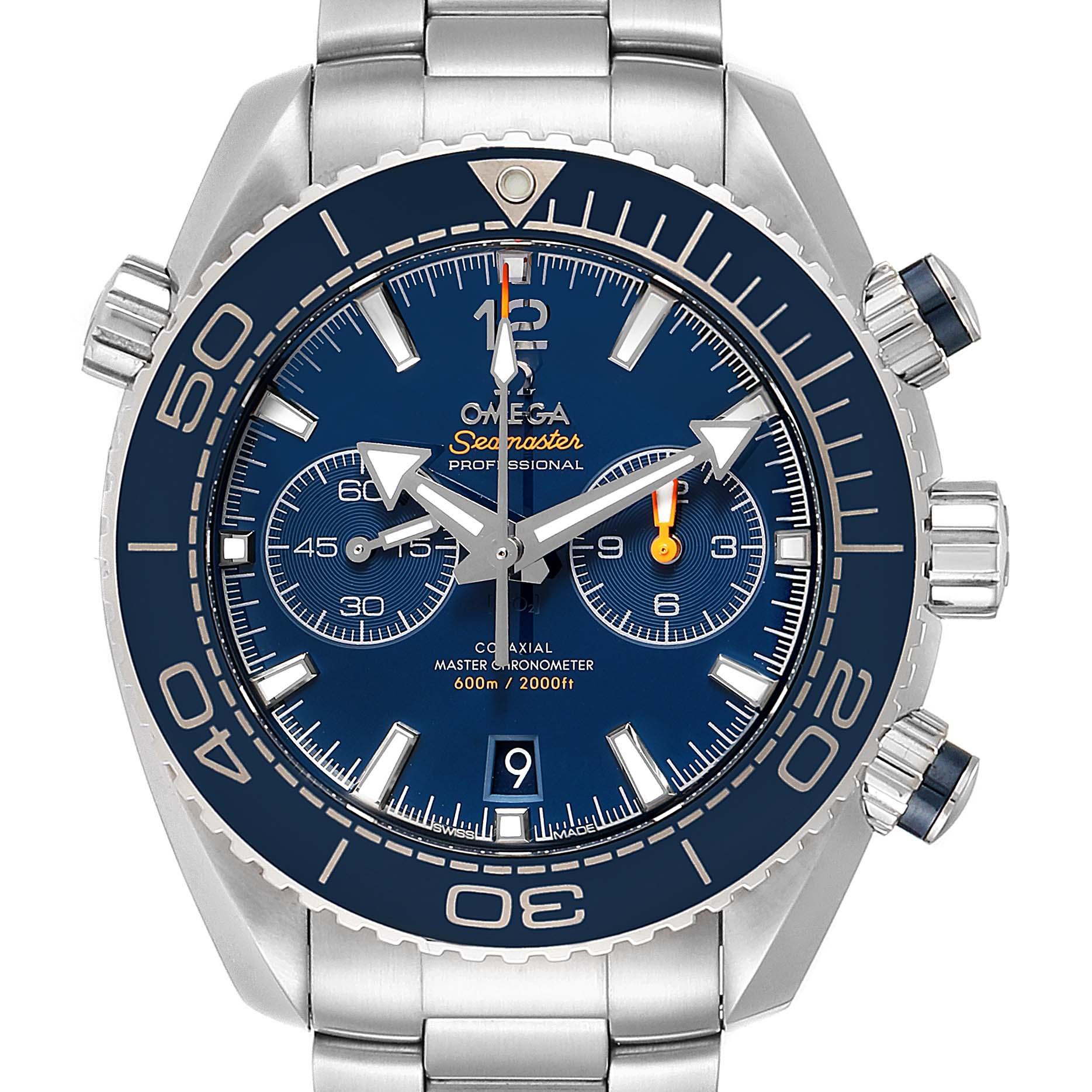 Omega Planet Ocean Blue Dial Mens Watch 215.30.46.51.03.001 Box Card