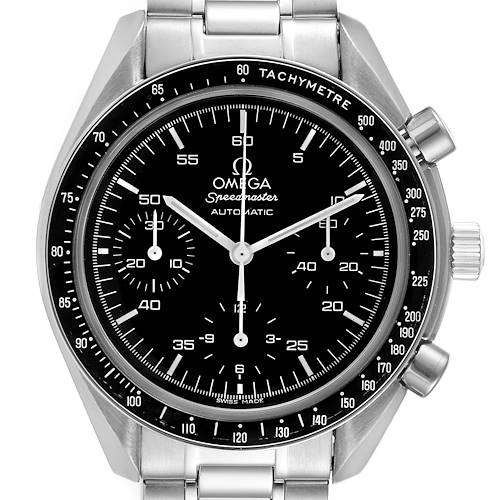 Photo of Omega Speedmaster Reduced Hesalite Cronograph Steel Mens Watch 3510.50.00