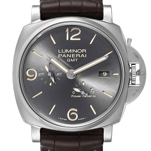 Photo of Panerai Luminor Due GMT Anthracite Dial Automtic Mens Watch PAM00944