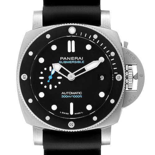Photo of Panerai Luminor Submersible 42mm Black Rubber Strap Mens Watch PAM00683