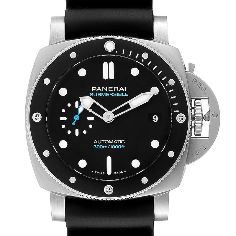 Panerai Luminor Submersible 42mm Black Rubber Strap Mens Watch PAM00683 SwissWatchExpo