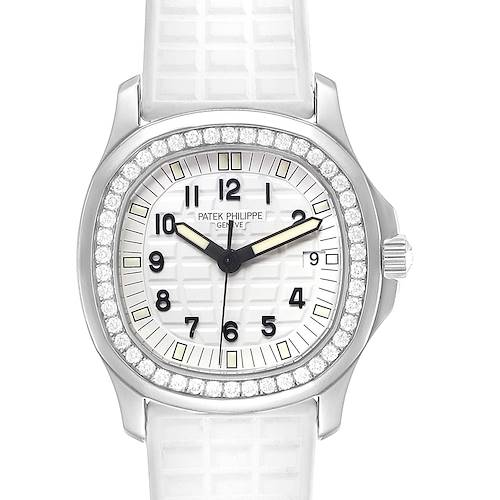 Photo of Patek Philippe Aquanaut White Dial Diamond Ladies Watch 5067