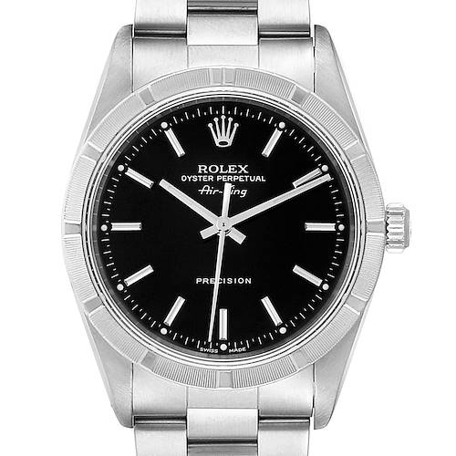 Photo of Rolex Air King 34 Black Dial Oyster Bracelet Steeel Mens Watch 14010