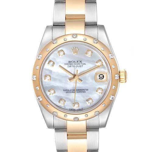 Photo of Rolex Datejust Midsize Steel Yellow Gold MOP Diamond Ladies Watch 178343