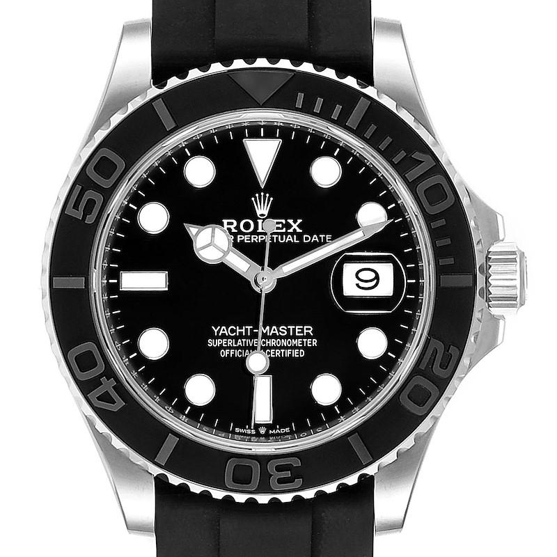 Rolex Yachtmaster 42 White Gold Rubber Strap Watch 226659 Unworn SwissWatchExpo