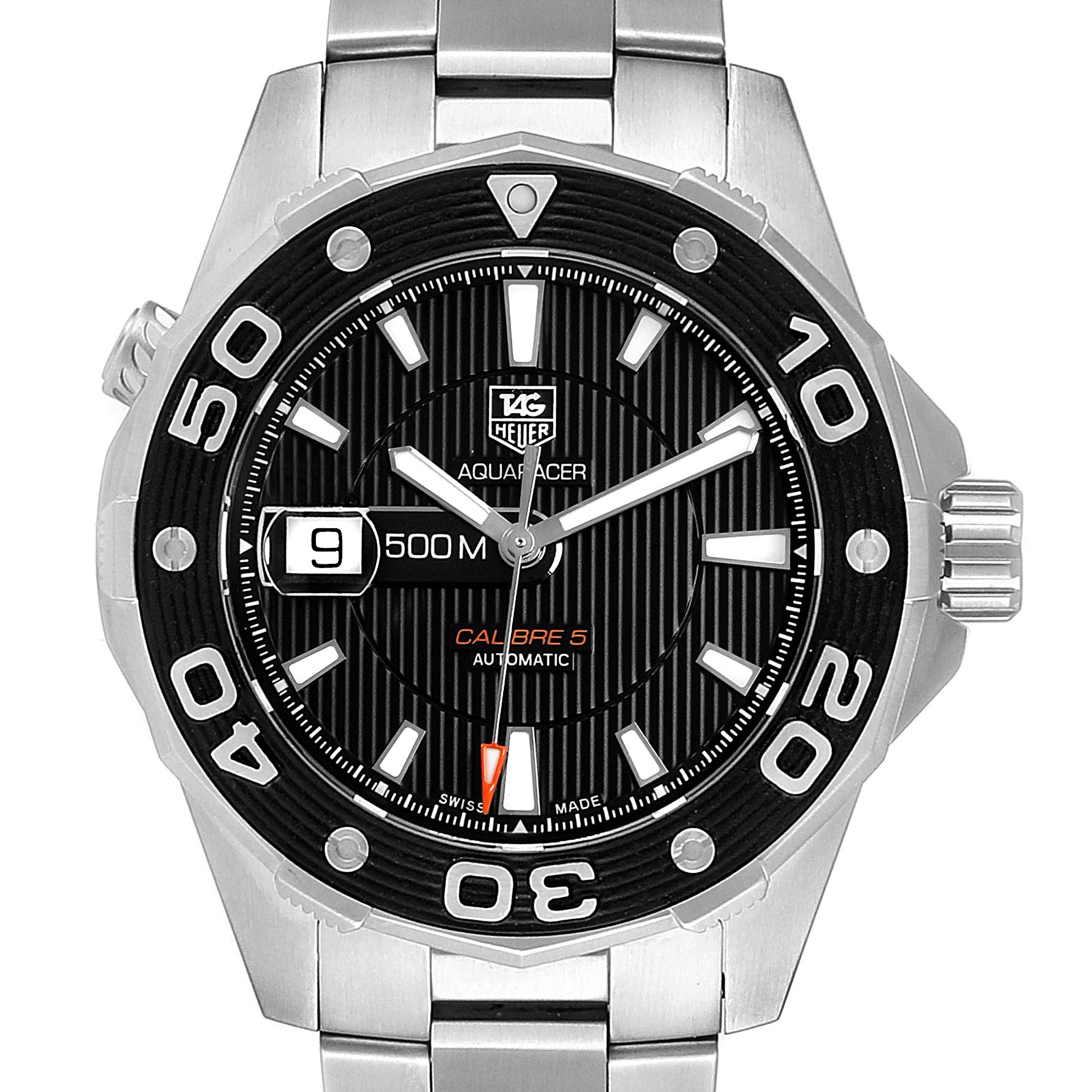Tag Heuer Aquaracer Calibre 5 500M Steel Mens Watch WAJ2110
