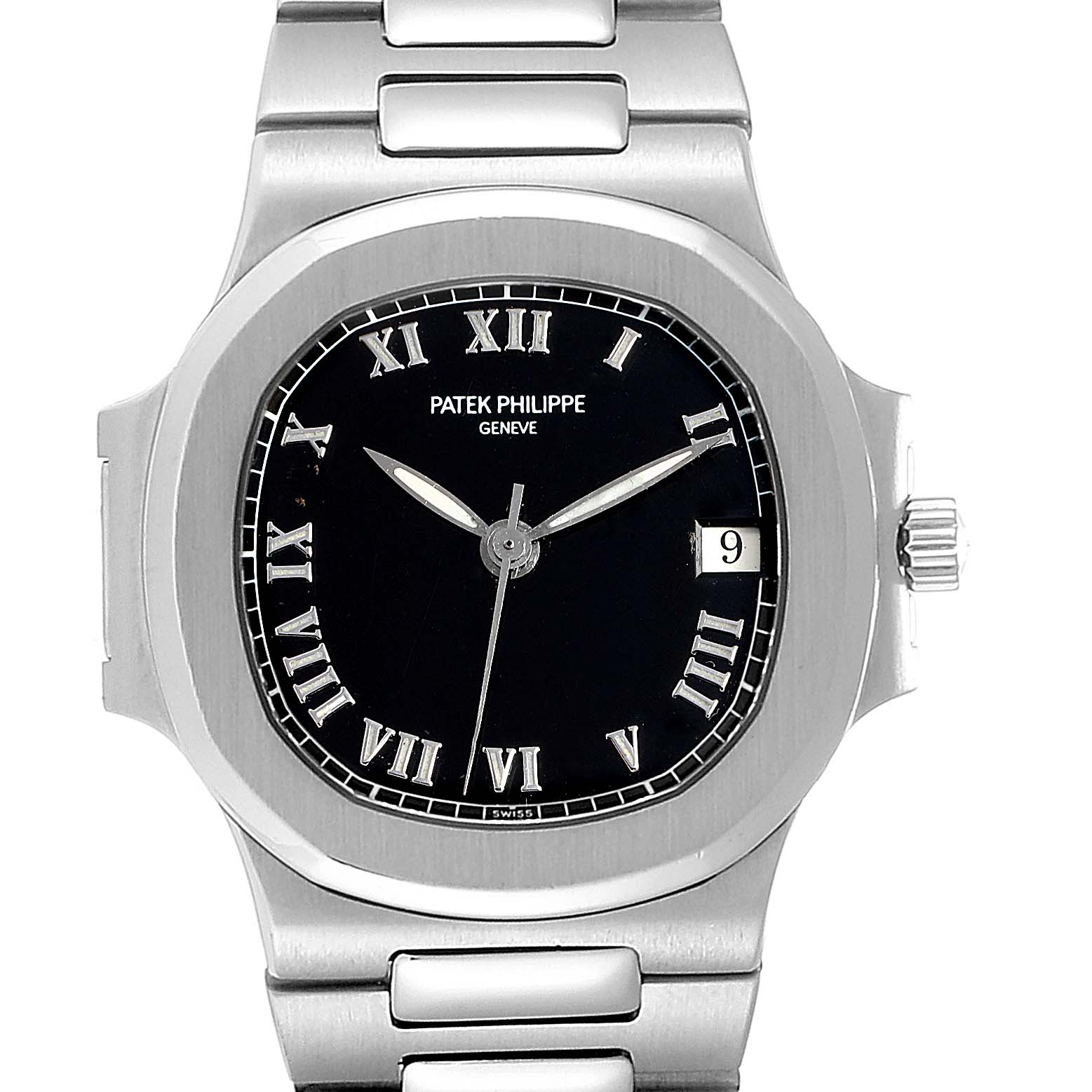 Photo of Patek Philippe Nautilus Black Dial Automatic Steel Mens Watch 3800