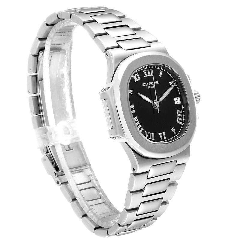Patek Philippe Nautilus Black Dial Automatic Steel Mens Watch 3800 SwissWatchExpo