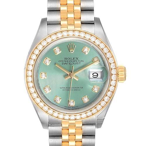 Photo of Rolex Datejust 28 Steel Yellow Gold Diamond Ladies Watch 279383 Unworn