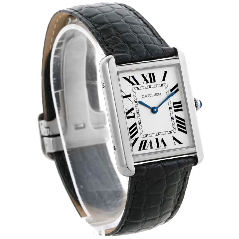 10440 Cartier Tank Solo Large Stainless Steel Unisex Watch W1018355 SwissWatchExpo