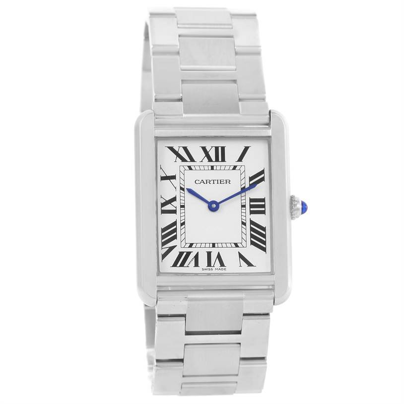13131 Cartier Tank Solo Large Stainless Steel Watch W5200014 Unworn SwissWatchExpo