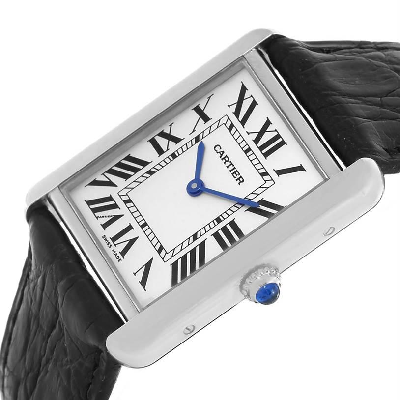 13154 Cartier Tank Solo Large Steel Silver Dial Unisex Watch W1018355 SwissWatchExpo