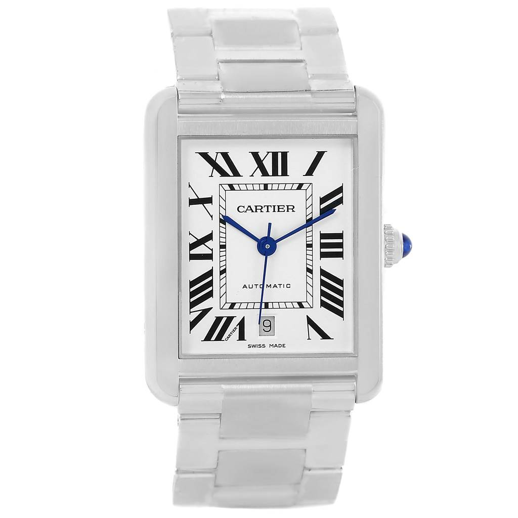 13654S Cartier Tank Solo XL Automatic Mens Date Watch W5200028 SwissWatchExpo